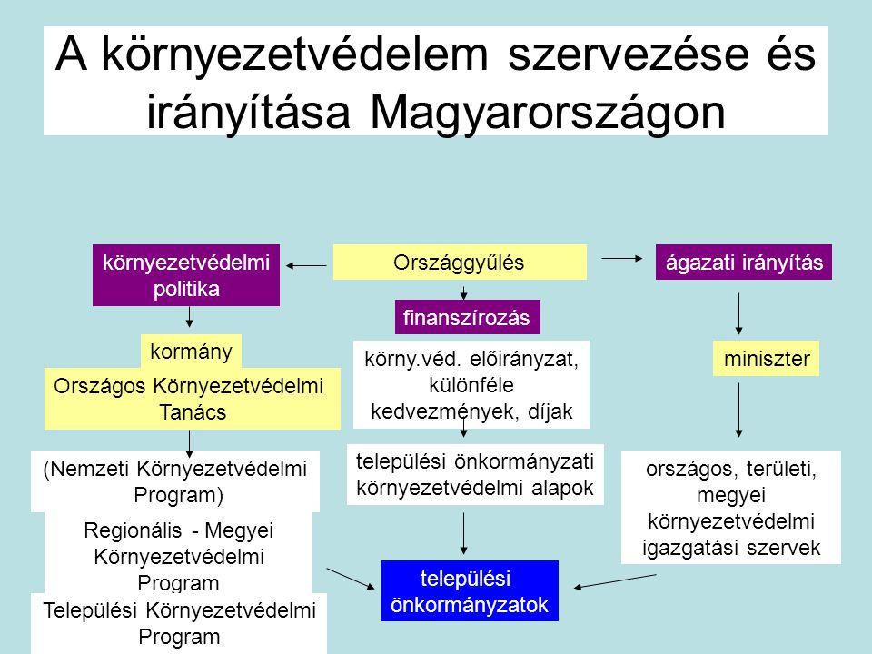 A környezetvédelem szervezése és irányítása Magyarországon