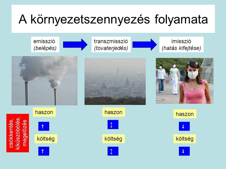 A környezetszennyezés folyamata