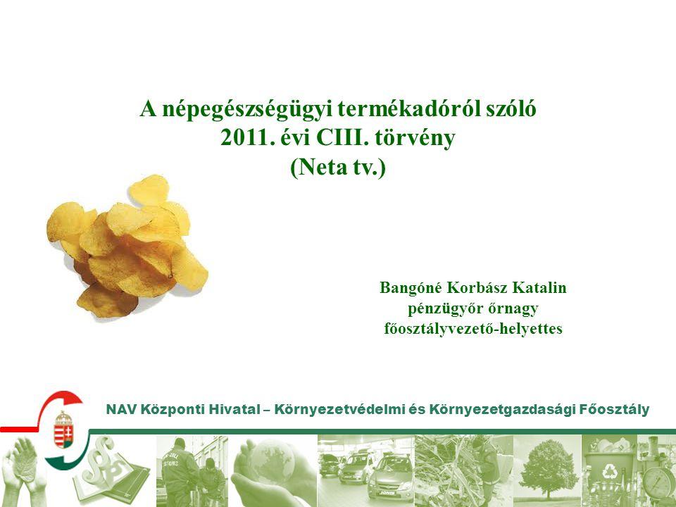A népegészségügyi termékadóról szóló 2011. évi CIII. törvény
