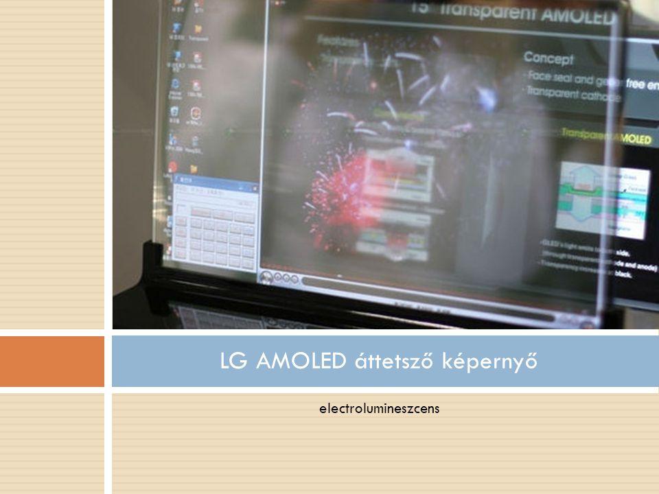 LG AMOLED áttetsző képernyő