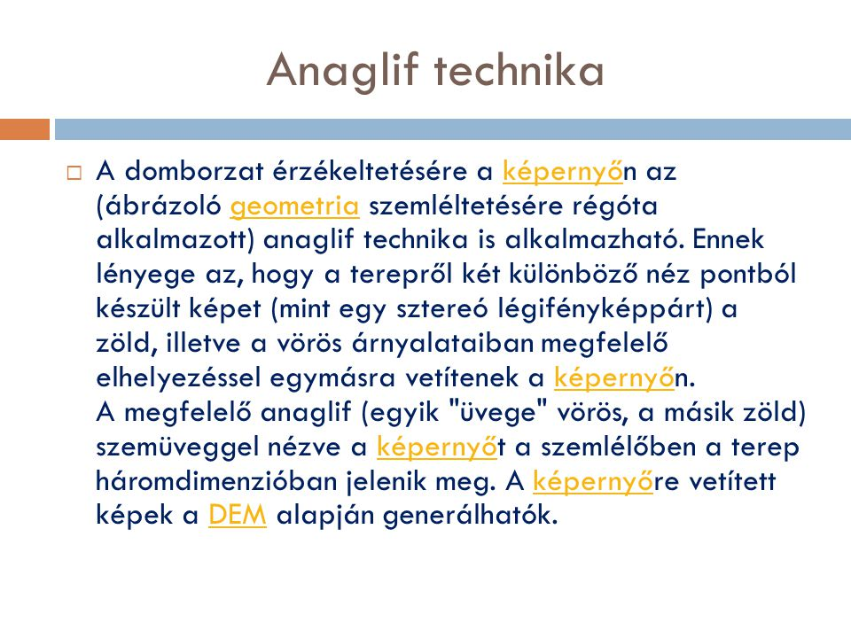 Anaglif technika