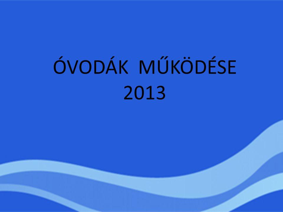 ÓVODÁK MŰKÖDÉSE 2013