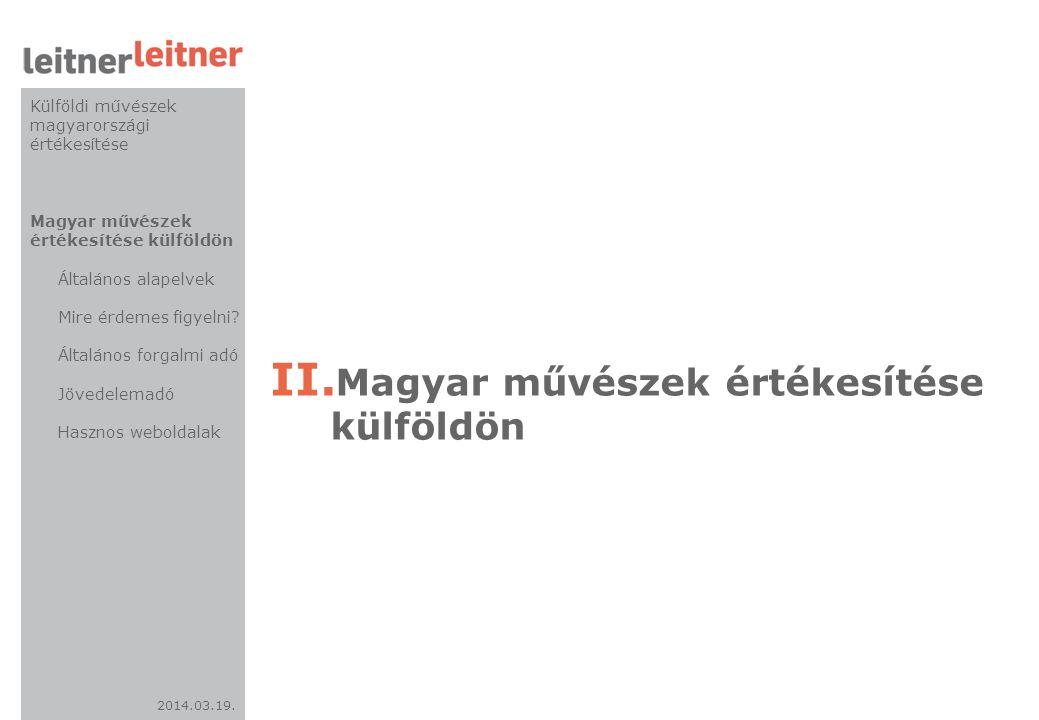 Magyar művészek értékesítése külföldön