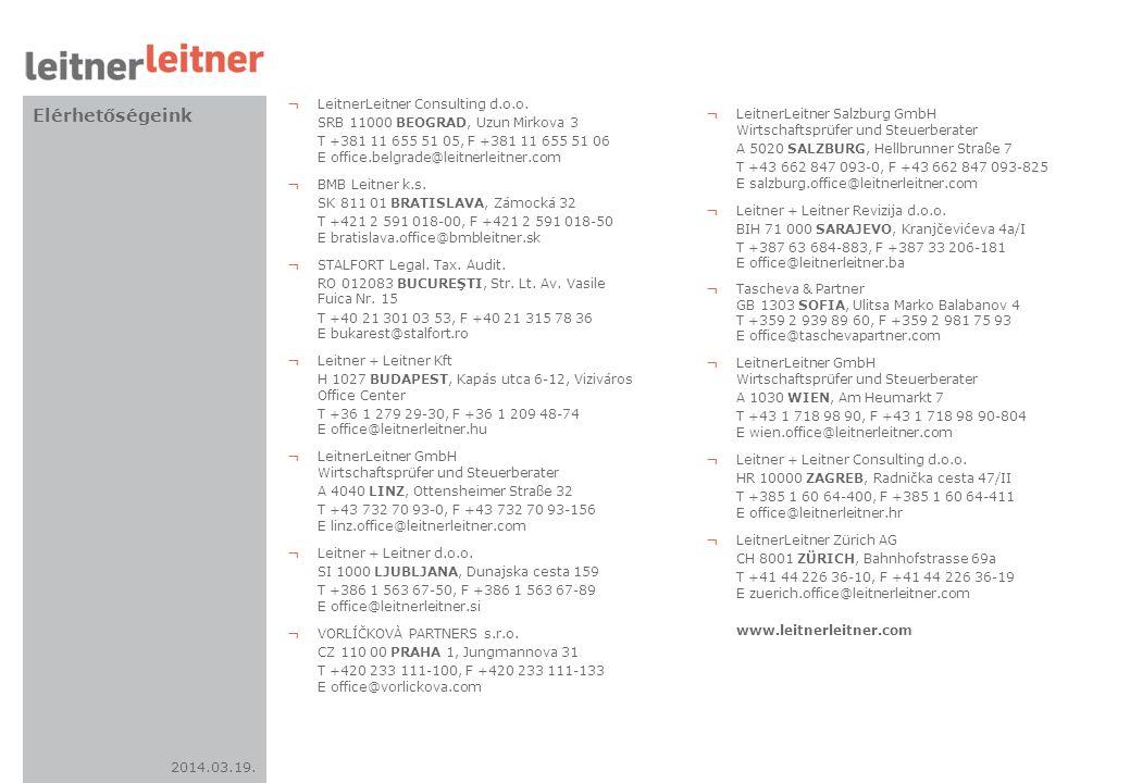 Elérhetőségeink LeitnerLeitner Consulting d.o.o.