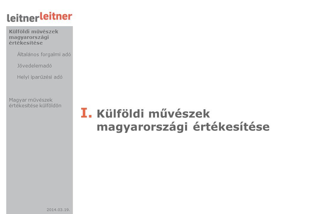 Külföldi művészek magyarországi értékesítése