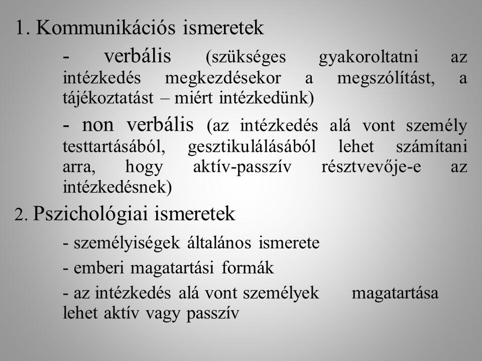 1. Kommunikációs ismeretek
