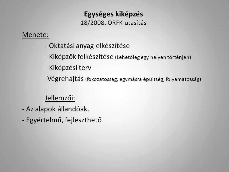 Egységes kiképzés 18/2008. ORFK utasítás