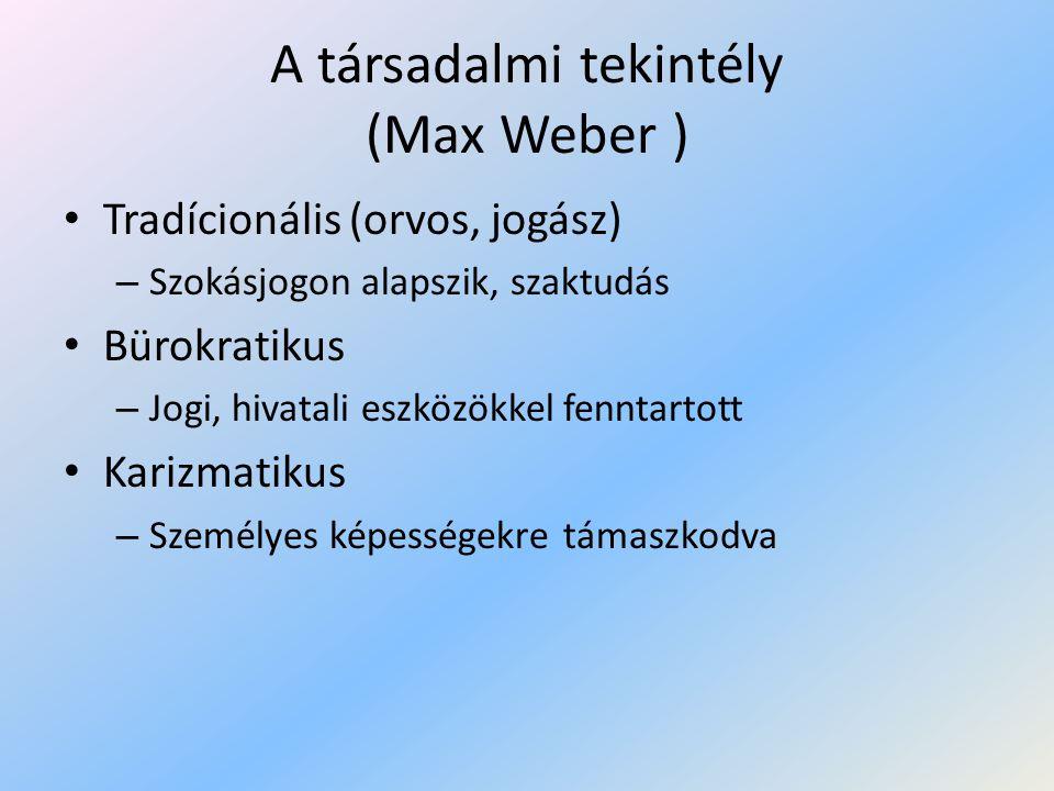 A társadalmi tekintély (Max Weber )