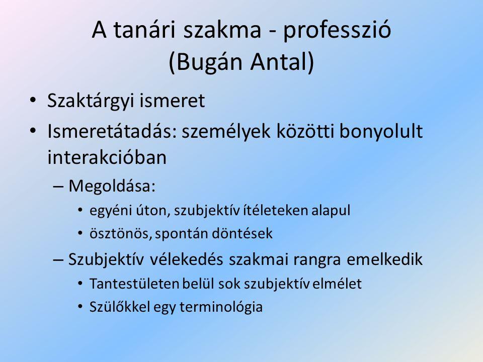 A tanári szakma - professzió (Bugán Antal)