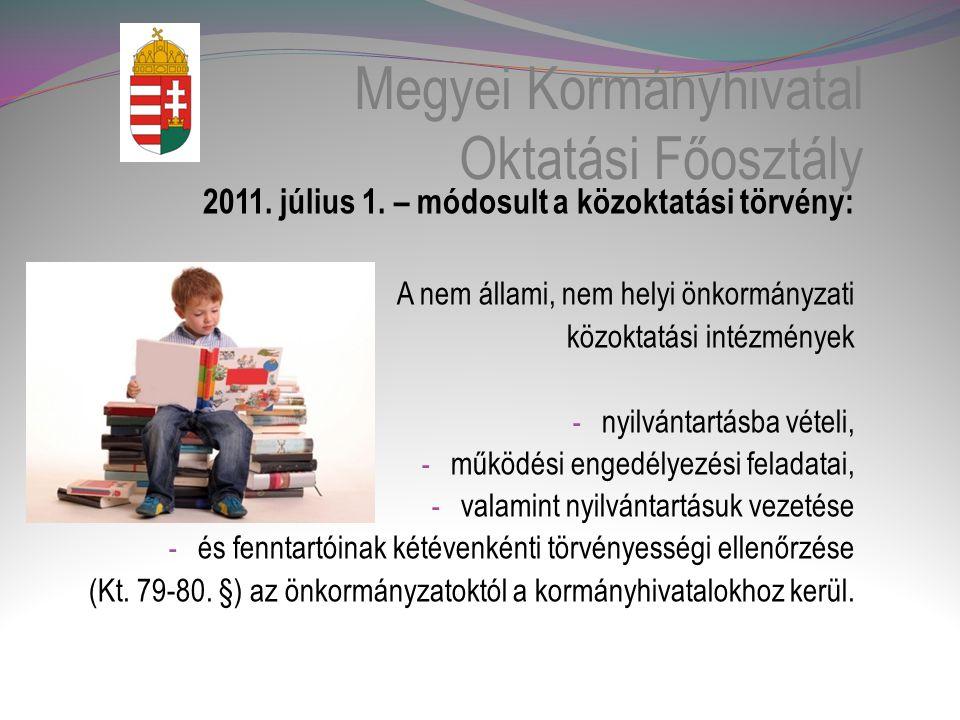 Megyei Kormányhivatal Oktatási Főosztály