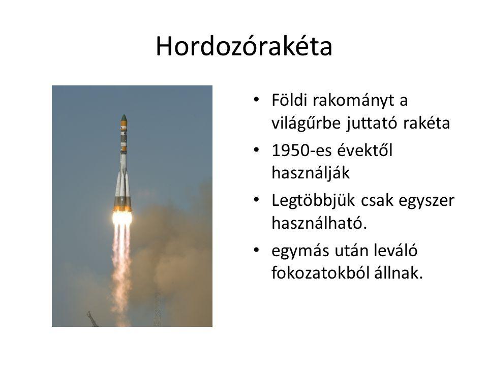 Hordozórakéta Földi rakományt a világűrbe juttató rakéta