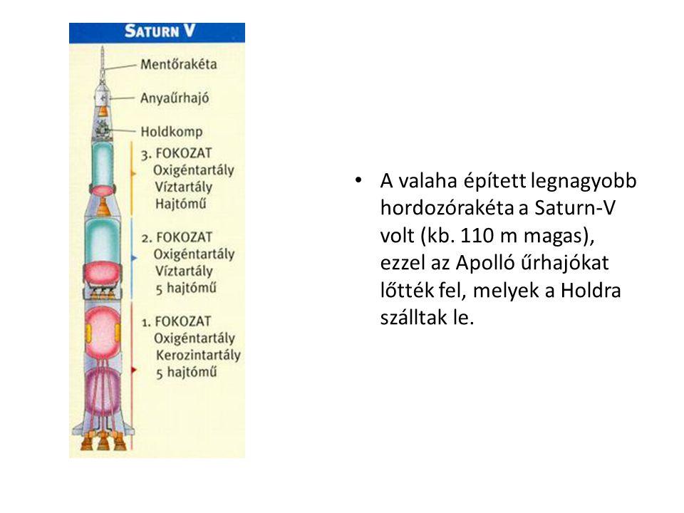 A valaha épített legnagyobb hordozórakéta a Saturn-V volt (kb