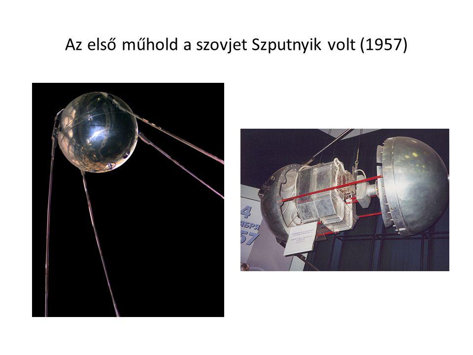Az első műhold a szovjet Szputnyik volt (1957)