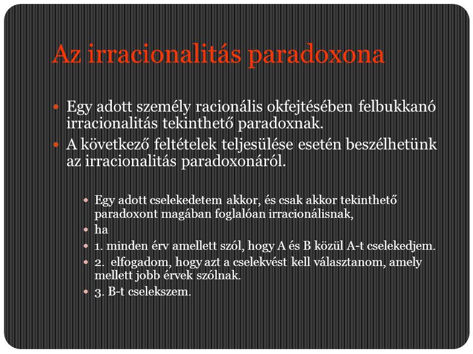 Az irracionalitás paradoxona