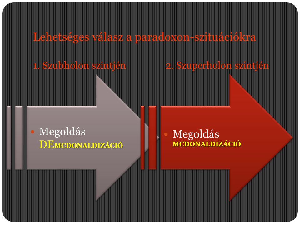 Lehetséges válasz a paradoxon-szituációkra