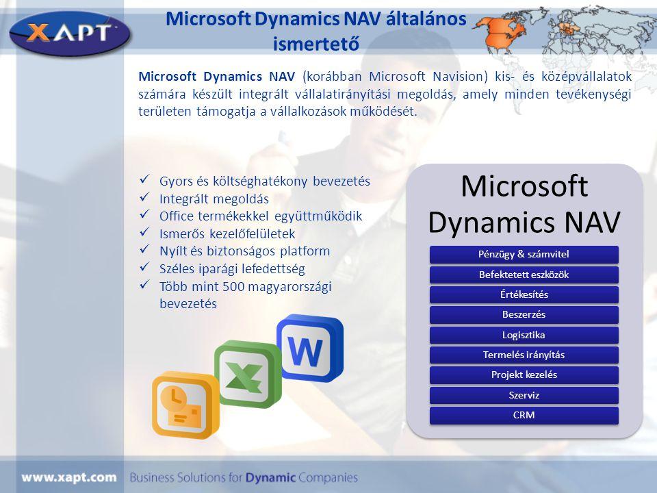 Microsoft Dynamics NAV általános ismertető