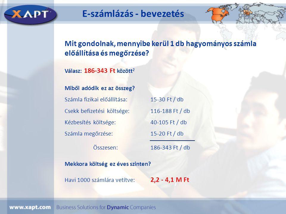 E-számlázás - bevezetés