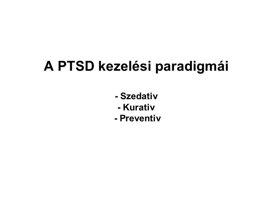 A PTSD kezelési paradigmái - Szedativ - Kurativ - Preventiv