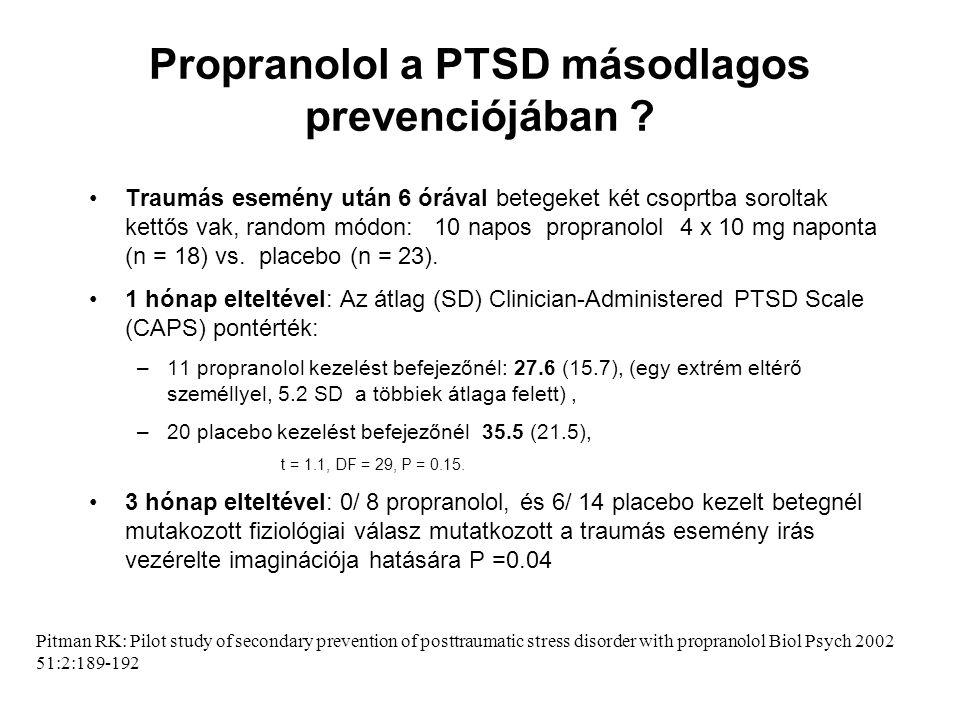 Propranolol a PTSD másodlagos prevenciójában