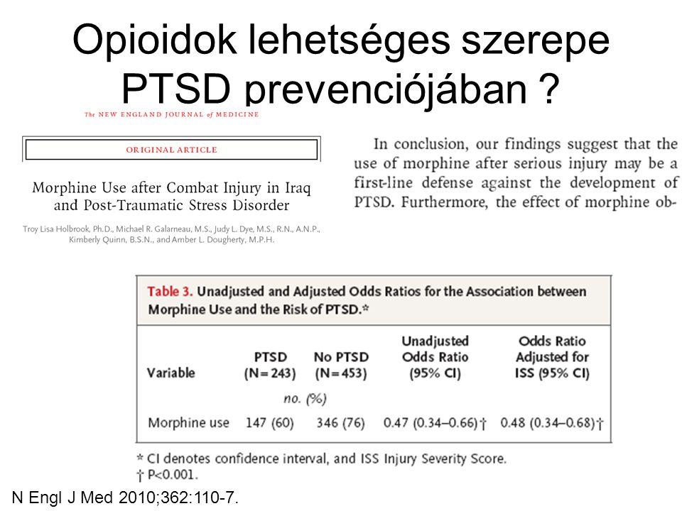 Opioidok lehetséges szerepe PTSD prevenciójában