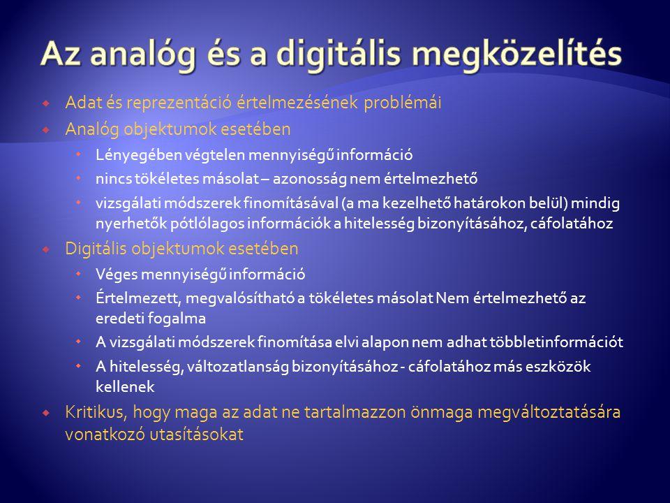 Az analóg és a digitális megközelítés
