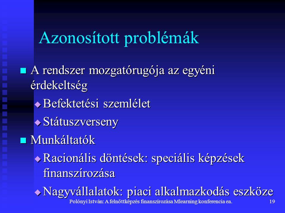 Azonosított problémák