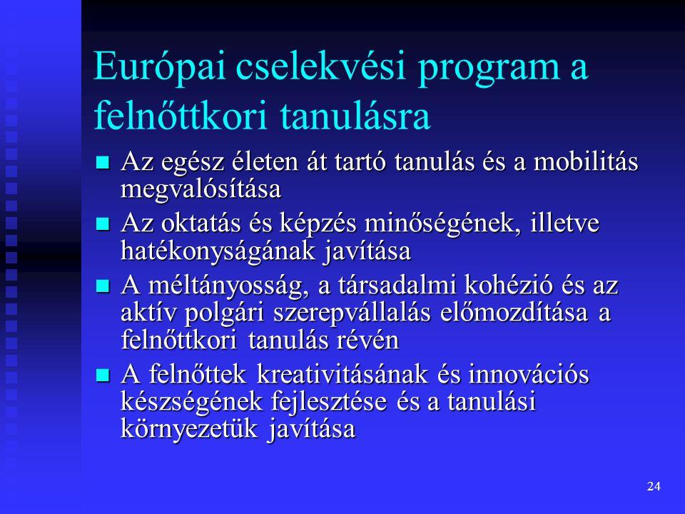Európai cselekvési program a felnőttkori tanulásra