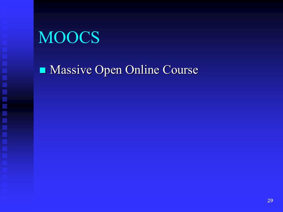 MOOCS Massive Open Online Course