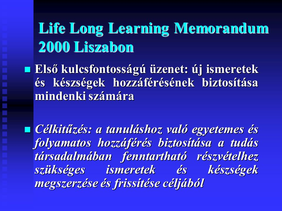 Life Long Learning Memorandum 2000 Liszabon