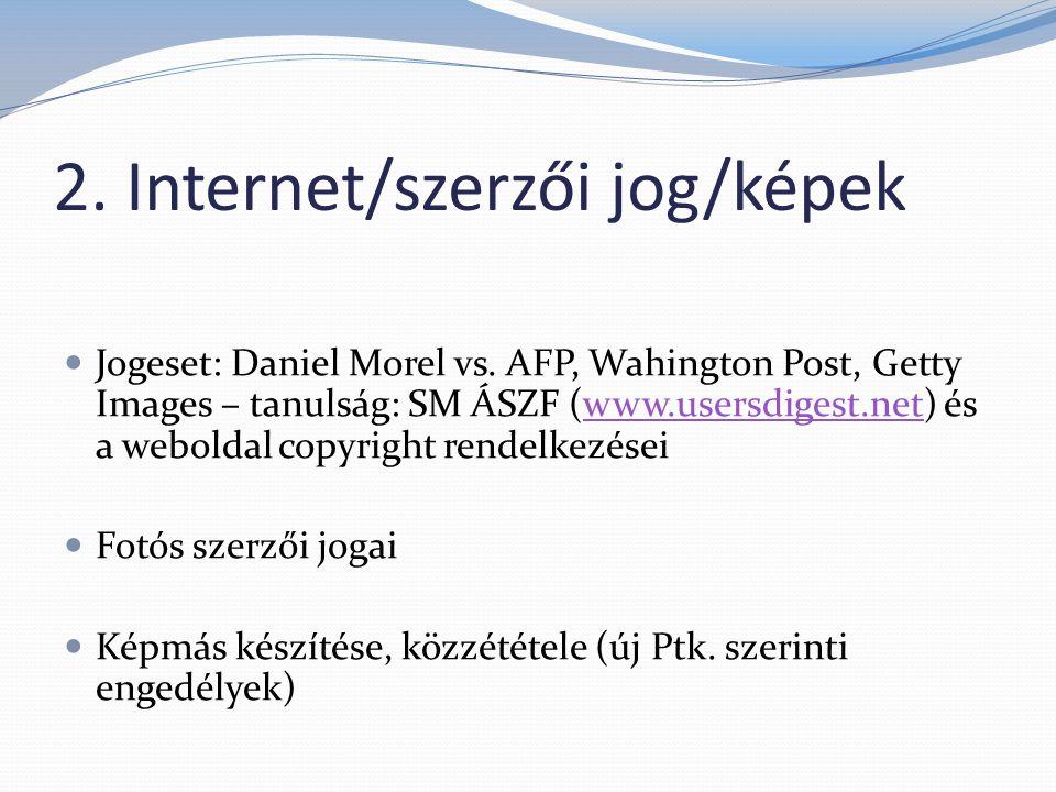 2. Internet/szerzői jog/képek