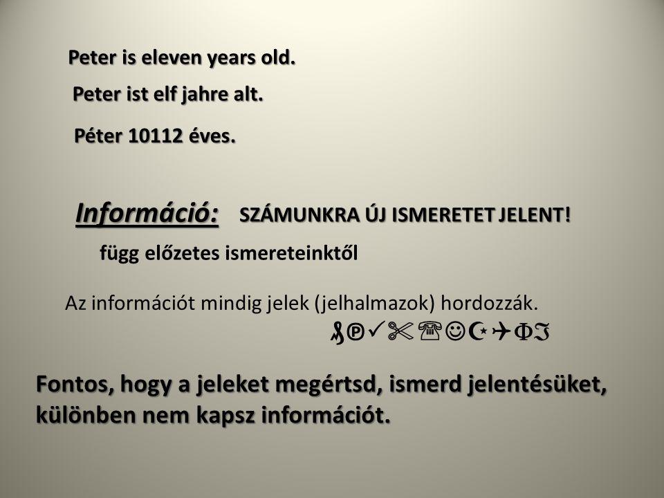 Információ: ₰℗