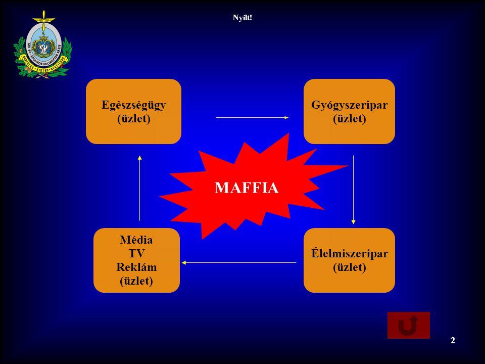 MAFFIA Egészségügy (üzlet) Gyógyszeripar (üzlet) Média TV Reklám