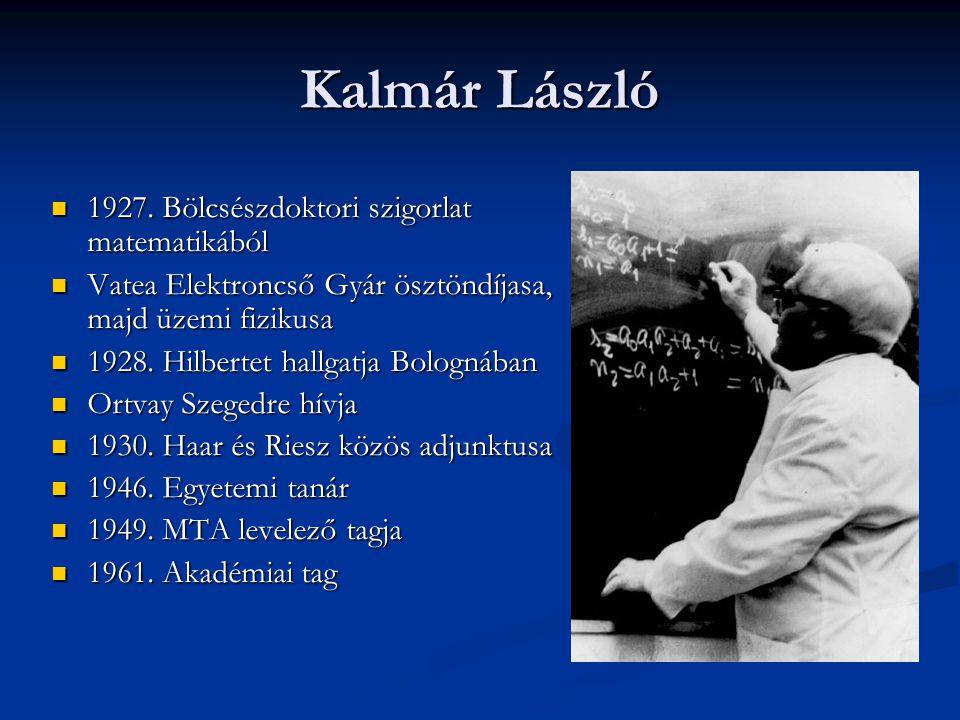 Kalmár László 1927. Bölcsészdoktori szigorlat matematikából