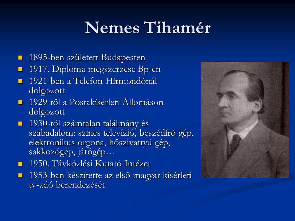 Nemes Tihamér 1895-ben született Budapesten
