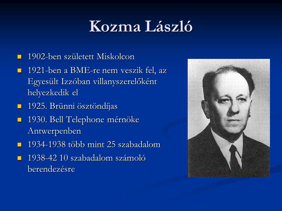 Kozma László 1902-ben született Miskolcon