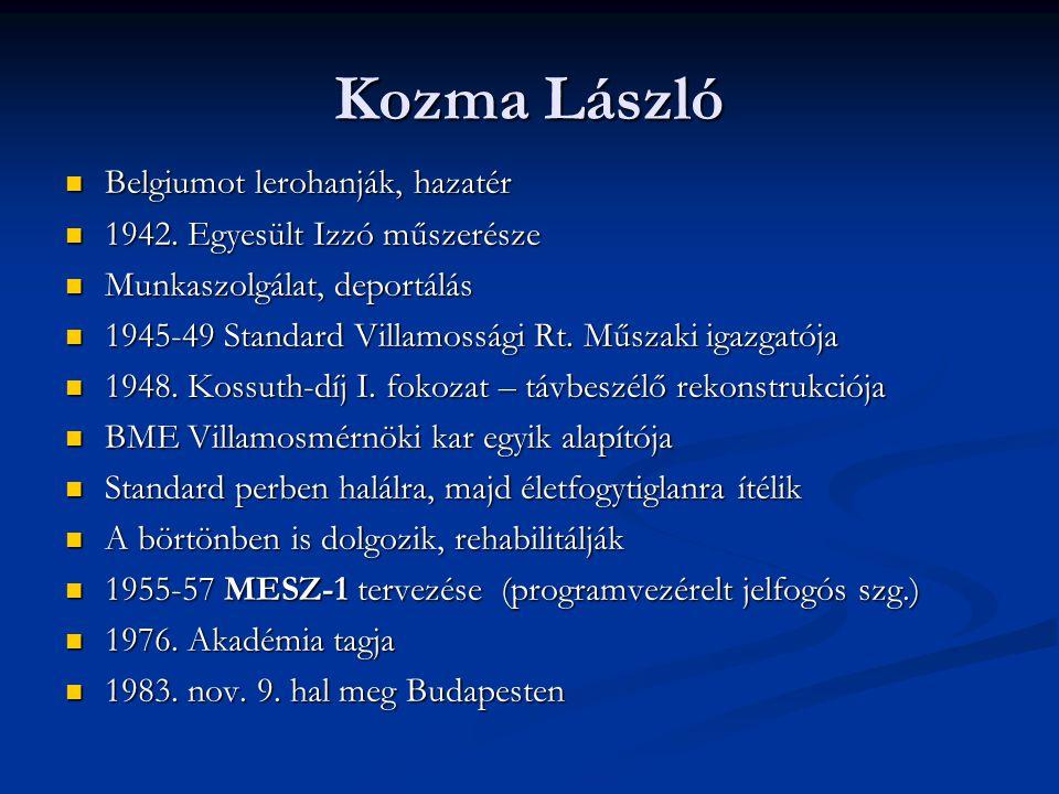 Kozma László Belgiumot lerohanják, hazatér