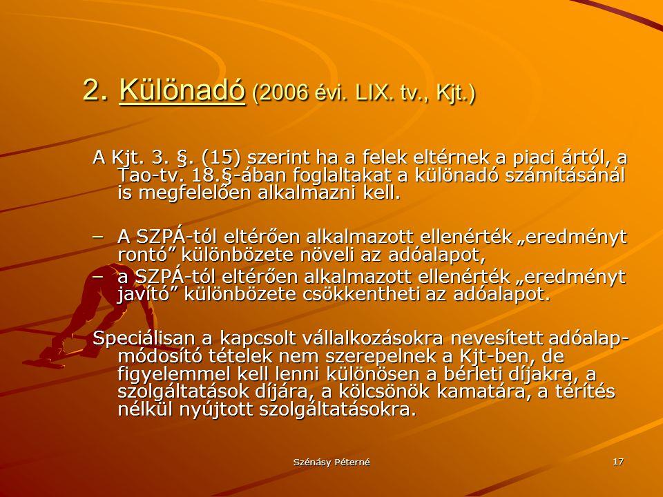 2. Különadó (2006 évi. LIX. tv., Kjt.)