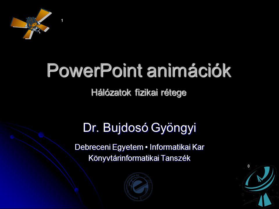 PowerPoint animációk Hálózatok fizikai rétege