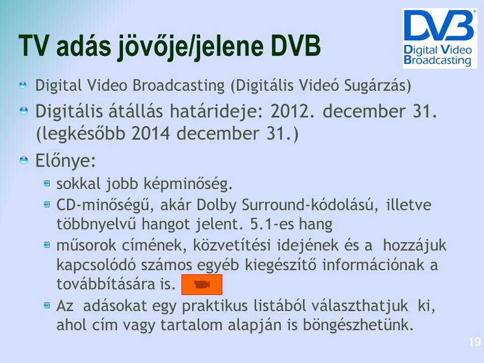 TV adás jövője/jelene DVB