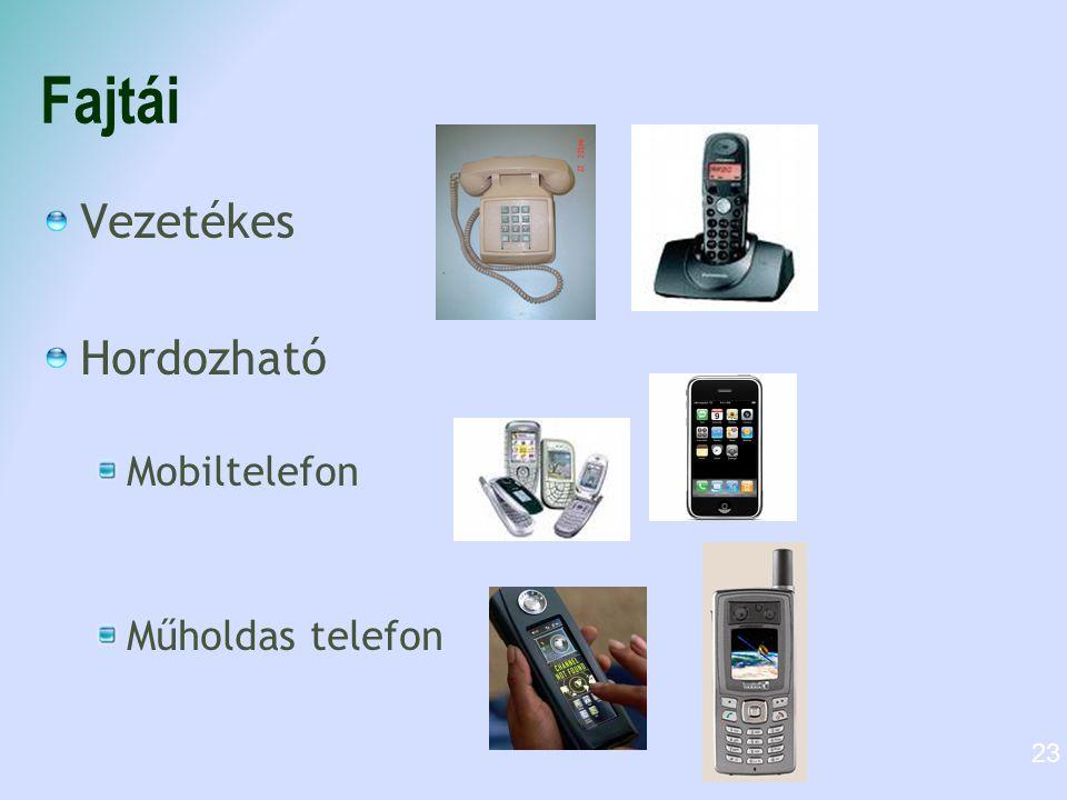 Fajtái Vezetékes Hordozható Mobiltelefon Műholdas telefon