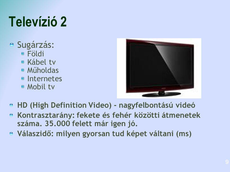Televízió 2 Sugárzás: Földi Kábel tv Műholdas Internetes Mobil tv