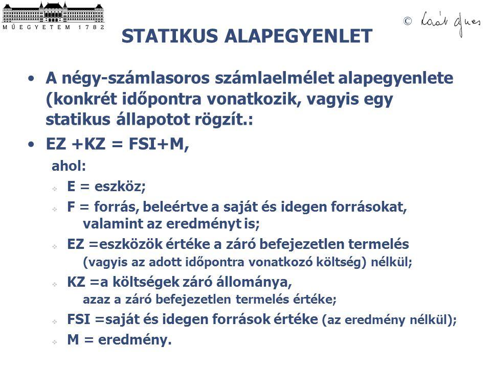 STATIKUS ALAPEGYENLET
