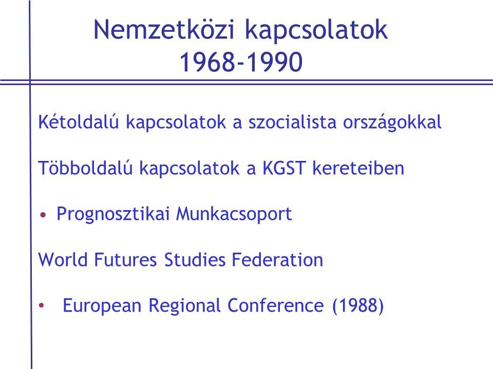 Nemzetközi kapcsolatok 1968-1990