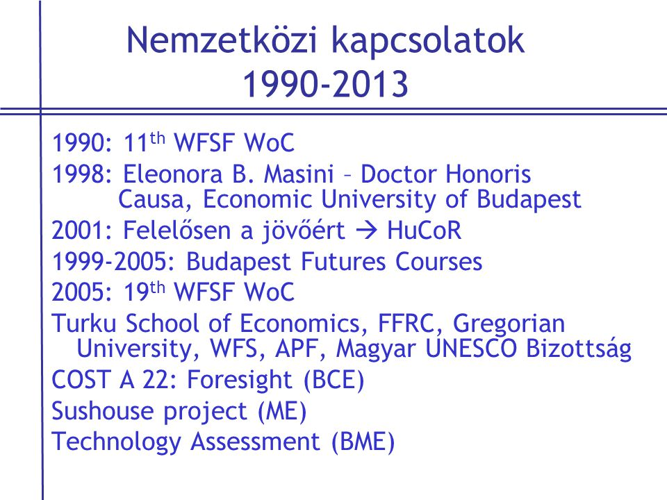 Nemzetközi kapcsolatok 1990-2013