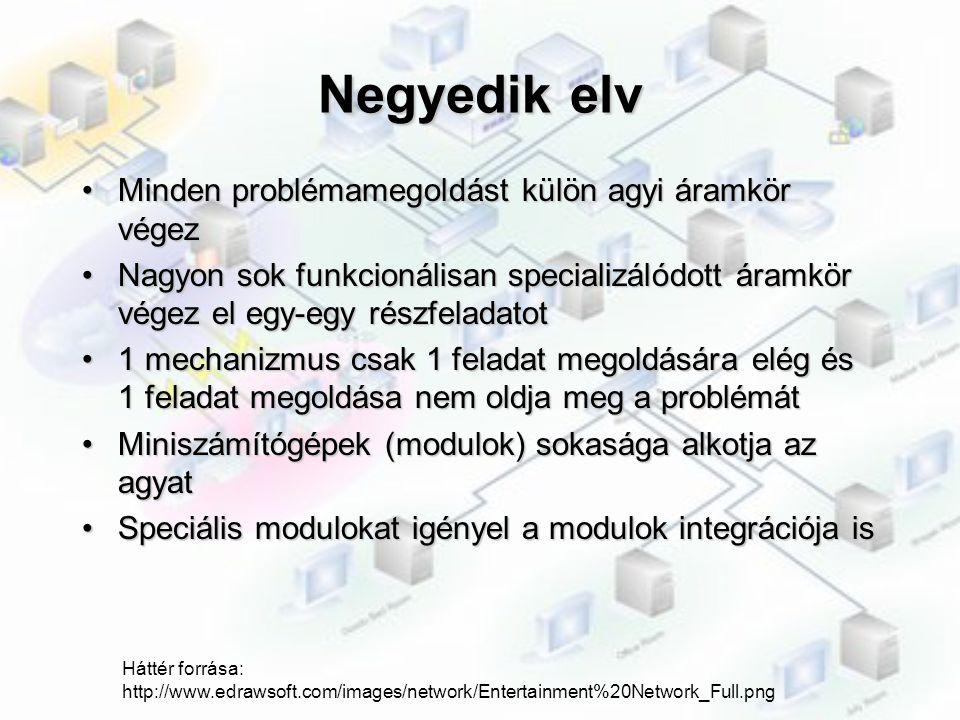 Negyedik elv Minden problémamegoldást külön agyi áramkör végez