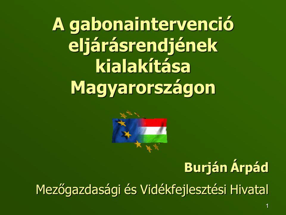 A gabonaintervenció eljárásrendjének kialakítása Magyarországon