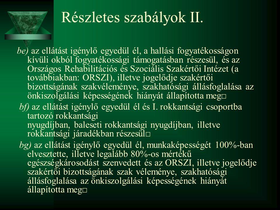 Részletes szabályok II.