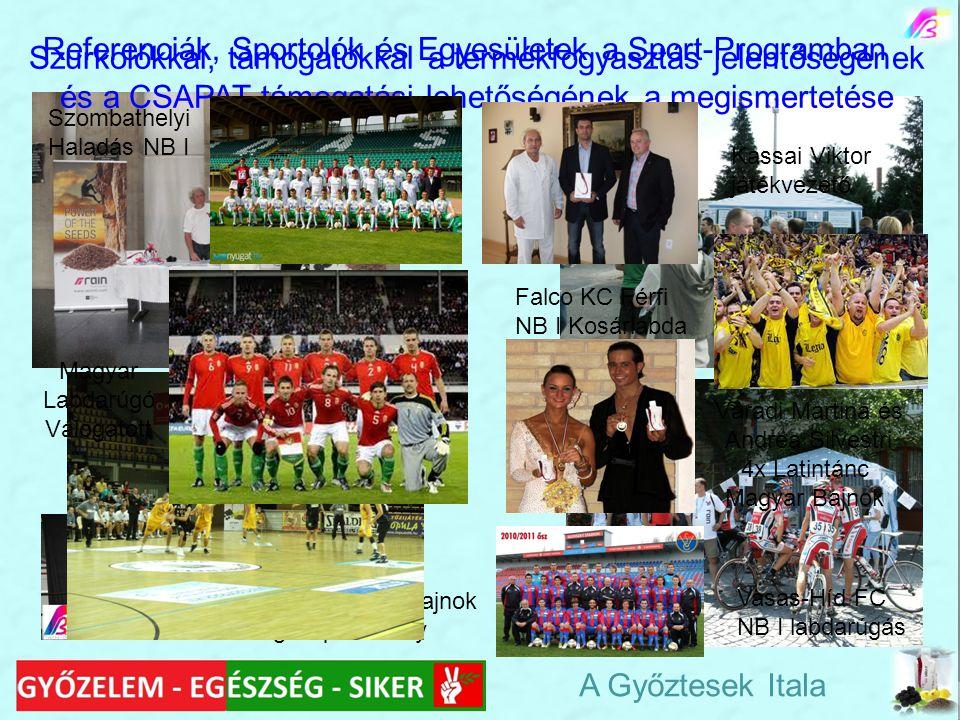 Referenciák, Sportolók és Egyesületek a Sport-Programban