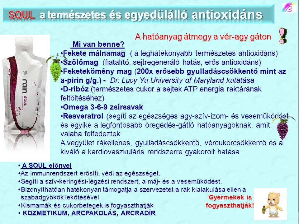 SOUL a természetes és egyedülálló antioxidáns