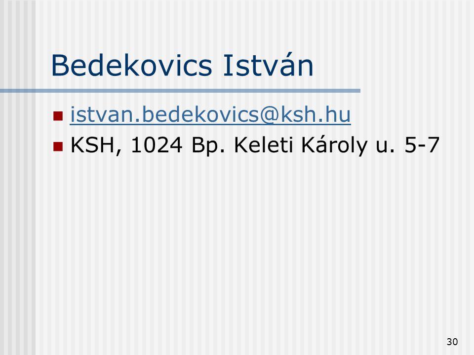 Bedekovics István istvan.bedekovics@ksh.hu